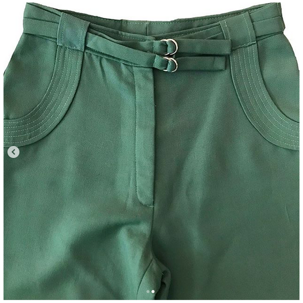 70's Green Bell Bottom Pants