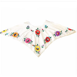 1970's Mexican Embroidered Handkerchief Top