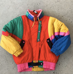 Vintage Colorblock Nylon Jacket