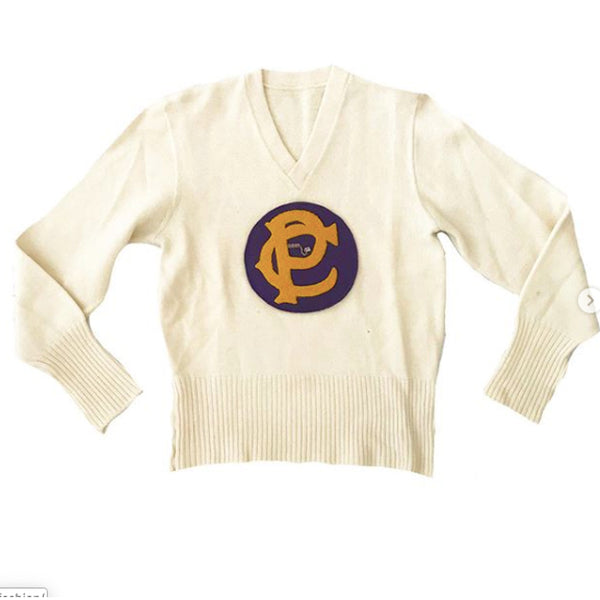 1950's Creme Women's Letterman's Sweater