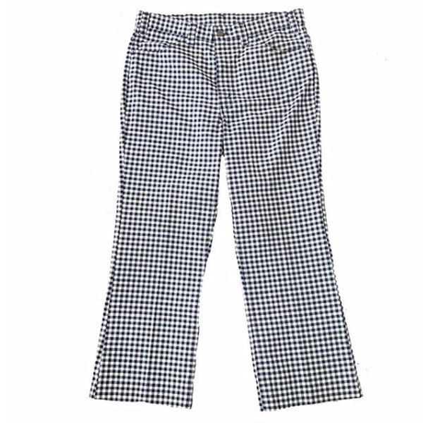 1970's Blue and White Checkered Levi's