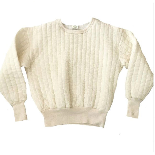 1970's Cream Quilted Sweatshirt