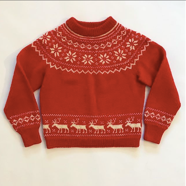 Red and White Norwegian Christmas Sweater