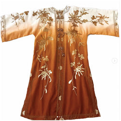 1960's Silk Ombre Embroidered Kaftan