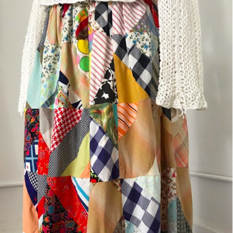 Homemade Patchwork Maxi Skirt