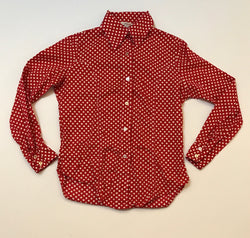 60's Red and White Polka Dot button up