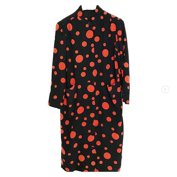 60's Designer Silk Polka Dot Dress