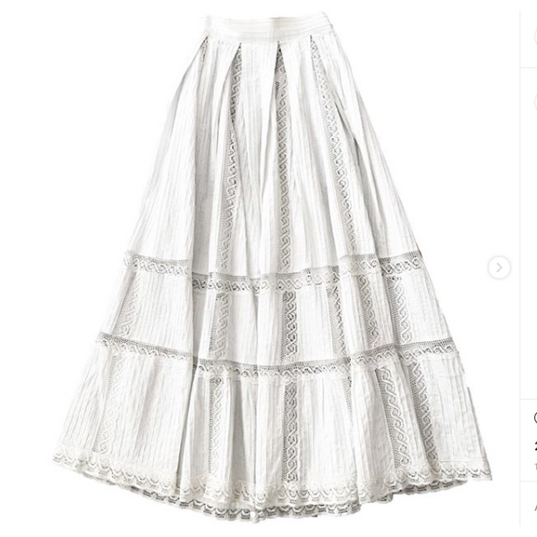 1950's lace and pleated Mexican Skirt