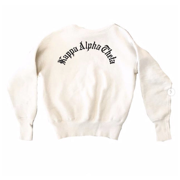1950's Kappa Alpha Theta White Sorority Sweatshirt
