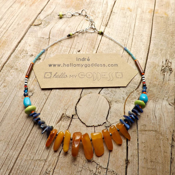 Hey, hey, hey it's a sunshine-y day Amber Necklace #2 by Hello My Goddess