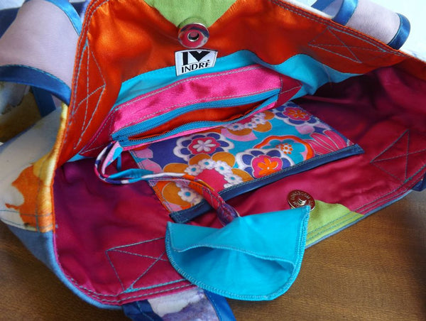 Springtime in a Bag to Celebrate your Inner Hippie Goddess #4 (inside detail) by Hello My Goddess