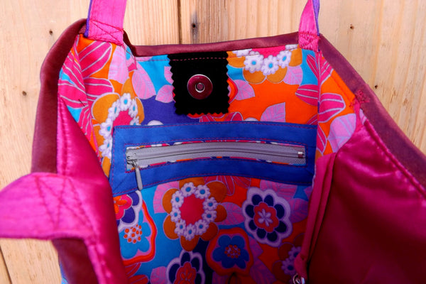 Hippie Boho Tote by Hello My Goddess (view of inner pocket and lining)