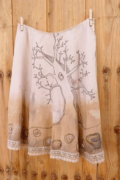 Skirt with tribal drawings by Hello My Goddess (front view)