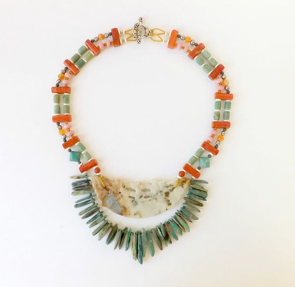 Hello My Goddess statement necklace