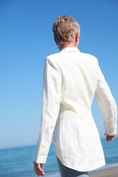 Ivory Linen Jacket by Hello MY Goddess