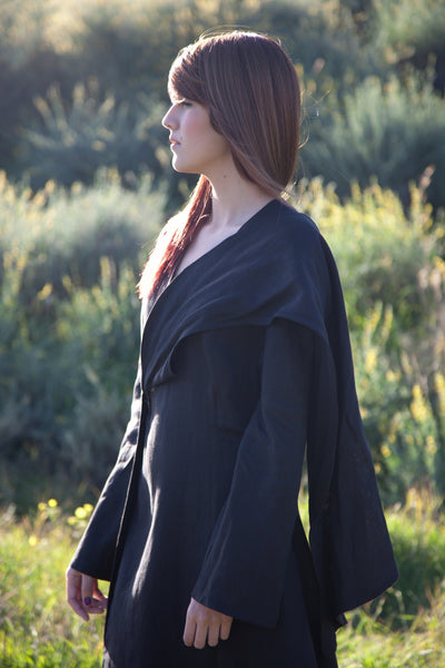 Wrap Around Jacket Kimono in Linen by Hello My Goddess
