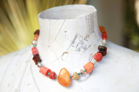 Hello My Goddess amber statement necklace