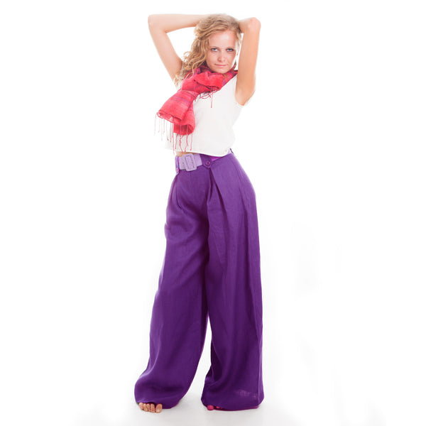 Perfectly Purple Wide Leg Pants by Hello My Goddess