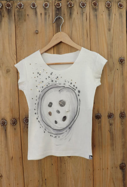 Hand-painted Tshirt by Hello My Goddess