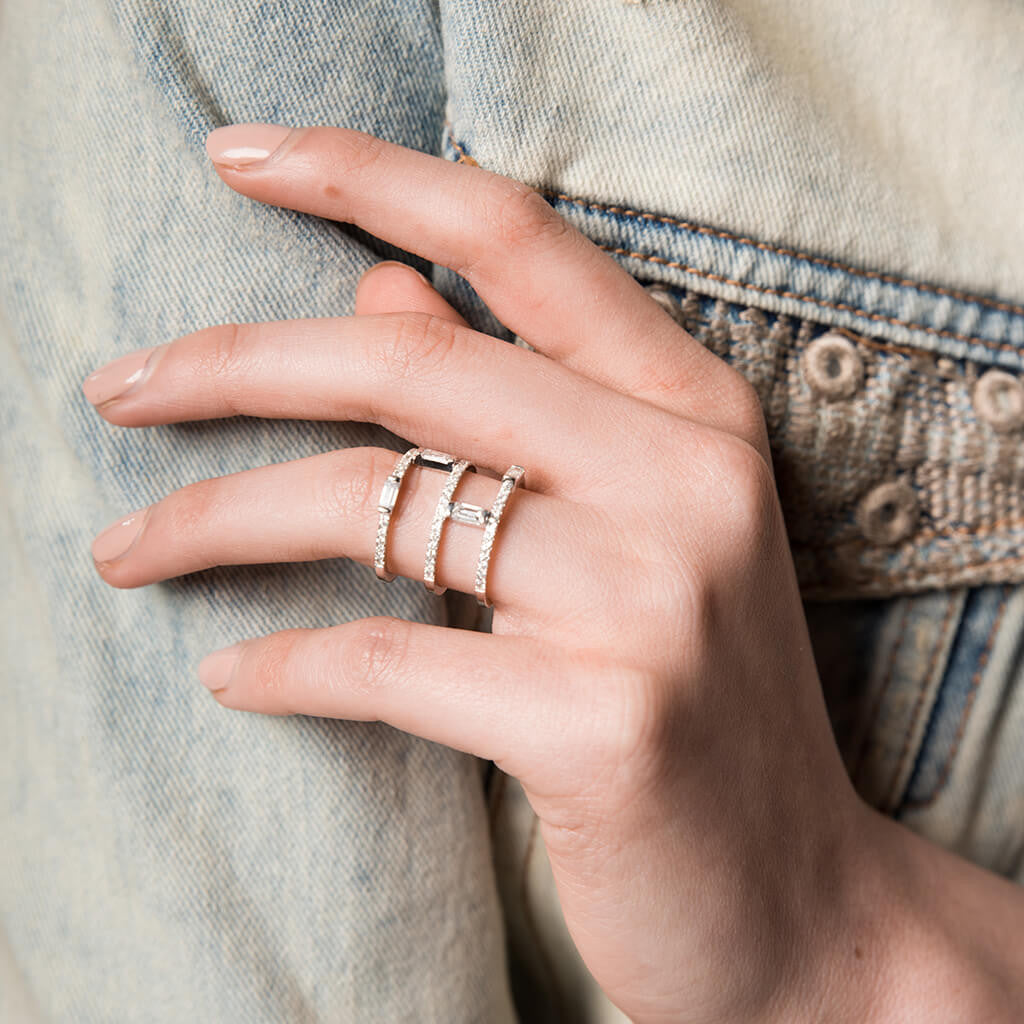 Triple Climbing Baguette Ring Galith Fine Jewelry
