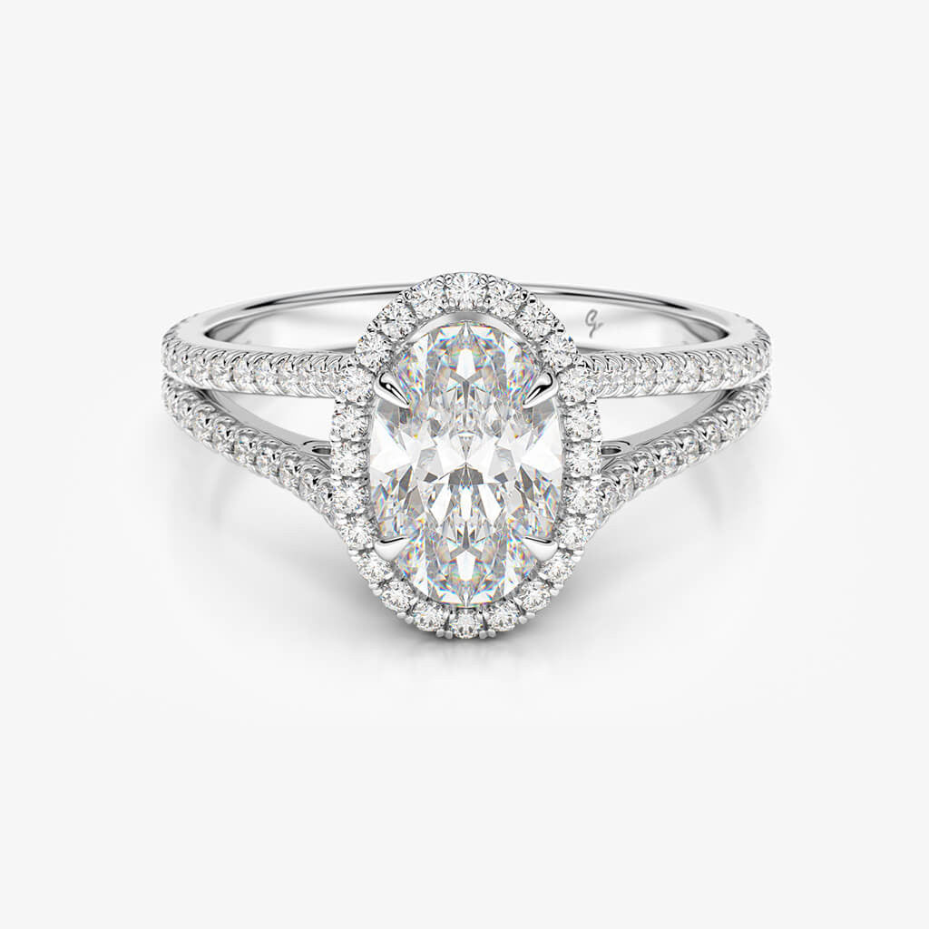 rings carleen cubic oval zirconia ring vintage pave engagement
