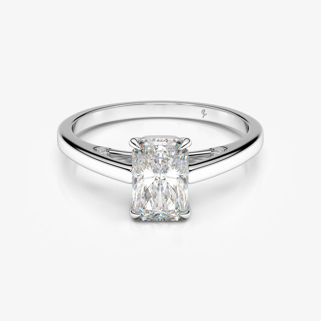 finger engagement hand rings cocktail index ring id white gold diamond right rectangular