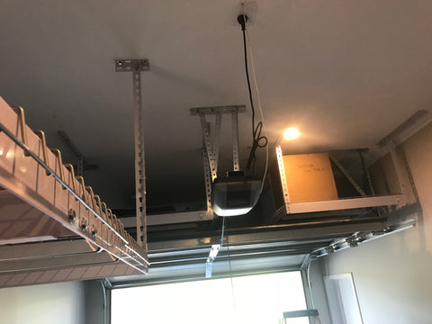 Three racks in a single garage - high stud