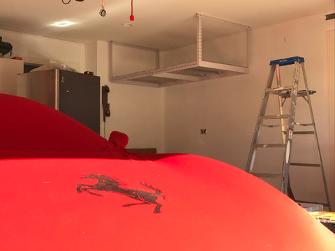 Ferrari under ceiling storage - good company
