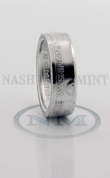 1982 Silver Coin Ring George Washington 90% Silver Proof Half Dollar Double Wedding Band Size 7-17 34th 35th Birthday Gift Anniversary Rings