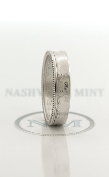 2004 Silver Quarter Coin Ring US TX Texas State 13th Wedding Anniversary 13 Year Old Birthday Gift for Her Christmas Gift for Him Sizes 3-13