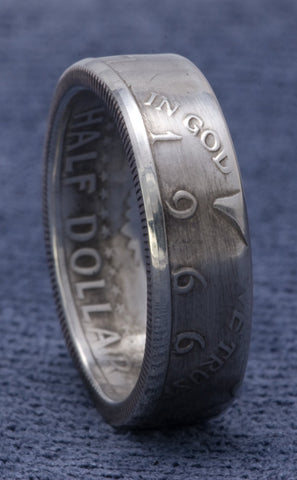 1966 JFK Kennedy Silver US Half Dollar Coin Rings Sizes 7-17 51 Year Wedding Anniversary 51st Birthday Gift 40% Silver Coin Ring Double Side