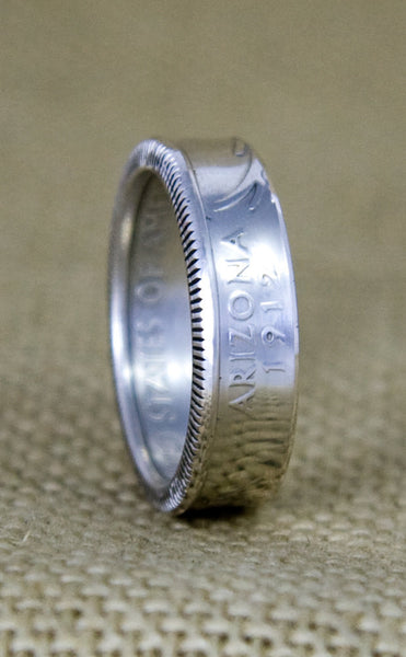 2006 Silver Coin Ring State Quarter Dollar Size 3-13 Nevada Nebraska Colorado North South Dakota 11 Year Wedding Anniversary 11th Birthday