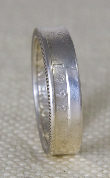 1992 90% Silver Washington US Quarter Dollar Double Sided Coin Ring Wedding Band 25th Birthday 25th Year Anniversary Gift Rings Sizes 3-13