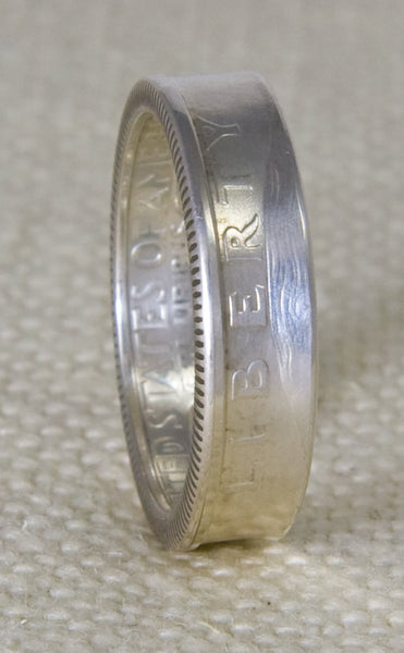 1995 90% Silver Washington US Quarter Dollar Coin Ring Double Sided Wedding Band Sizes 3-13 22nd Birthday 22 Year Anniversary Silver Gift