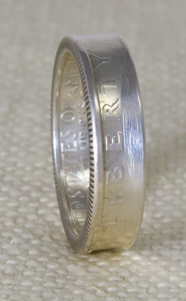1997 Silver Washington US Quarter Dollar Coin Ring Wedding Band Sizes 3-13 20th Birthday 20 Year Anniversary Gift Silver Liberty CoinRing