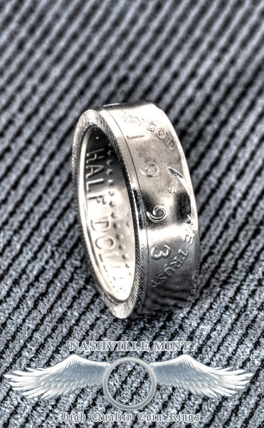 1993 Silver Half Dollar Coinring JFK Kennedy Coin Ring Sizes 7-17 24th Birthday Gift 24th Wedding Anniversary Best Band