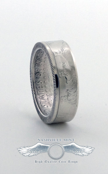 2018 Silver Half Dollar Coin Ring US JFK Double Side CoinRing Wedding Band Anniversary Gift Size 7-17 Class Ring Graduation Gift Coins Rings