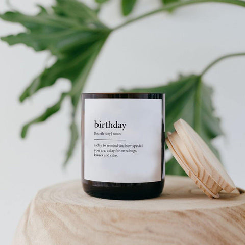 """Birthday"" Dictionary Mid Soy Candle"