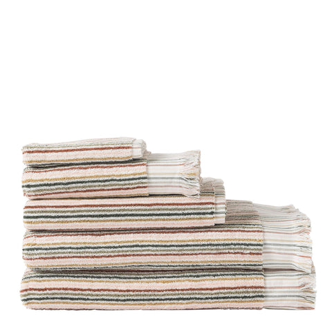 Alice Stripe Terry Face Cloth