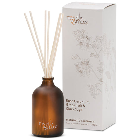 Essential Oil Diffuser - Rose Geranium, Grapefruit + Clary Sage