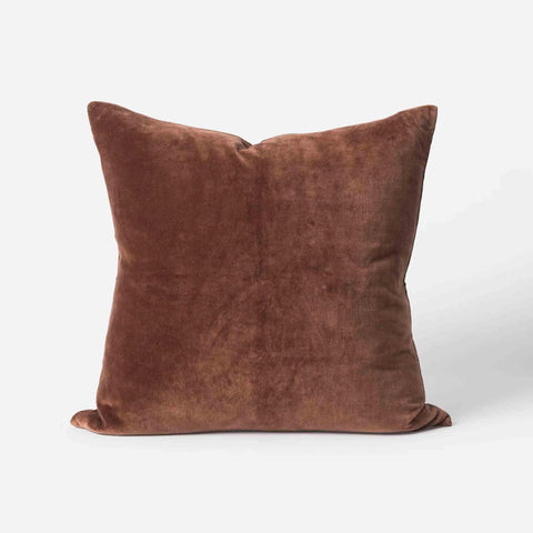 Cotton Velvet Cushion (Brick) - 55 x 55cm