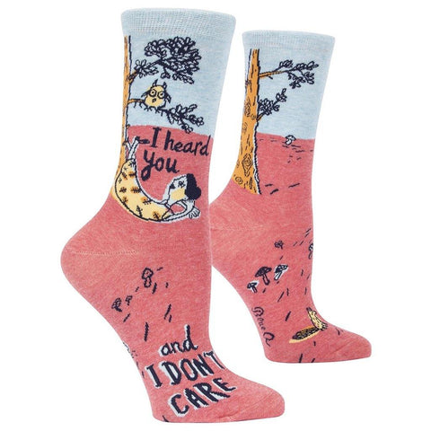 I Heard You and I Don't Care - Women's Socks