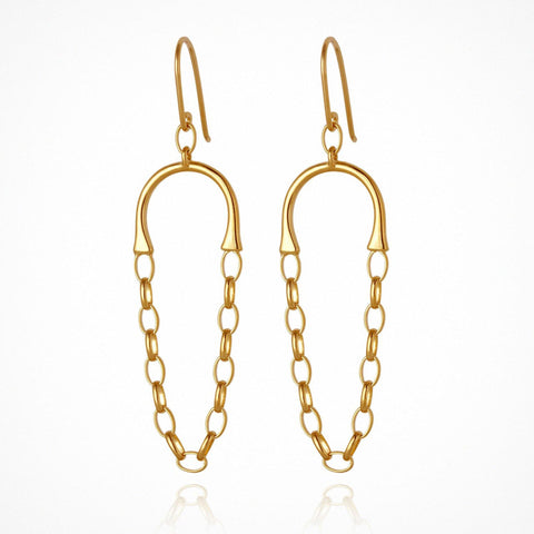 Callista Earrings - Gold