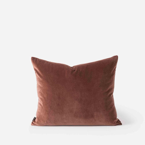 Cotton Velvet Cushion - Eggplant