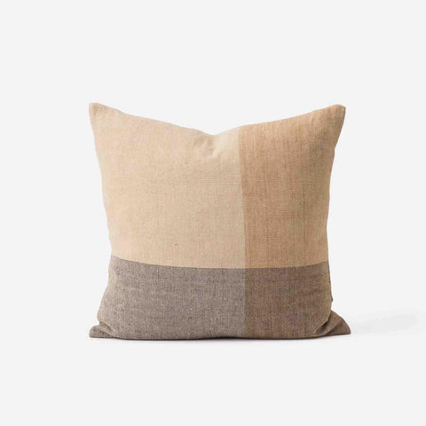 Henri Handwoven Linen Cushion (Multi) - 50 x 50 cm