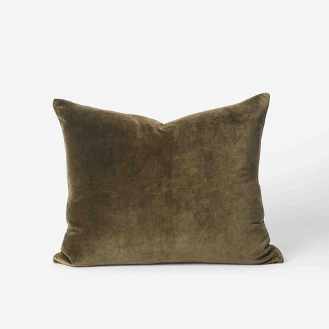 Cotton Velvet Cushion (Ivy) - 55 x 45 cm