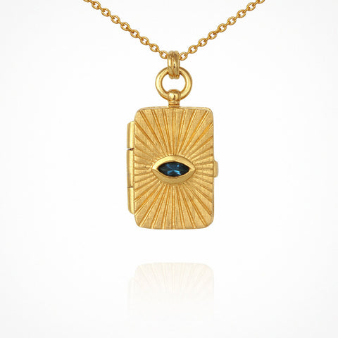 Meri Locket Necklace - Gold