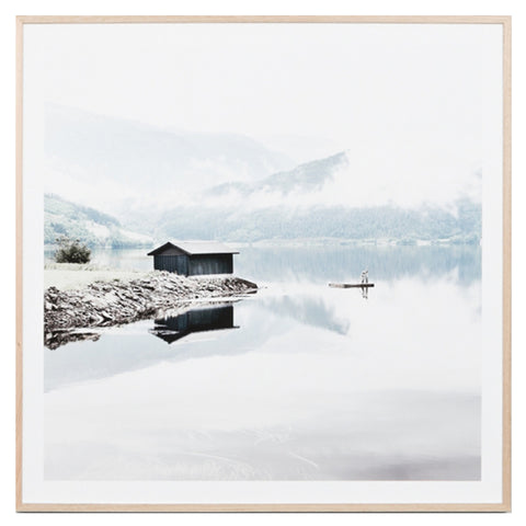 Norwegian Lake framed print by Warranbrooke