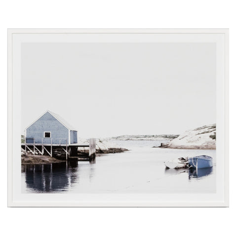 rocky cove framed print by Warranbrooke