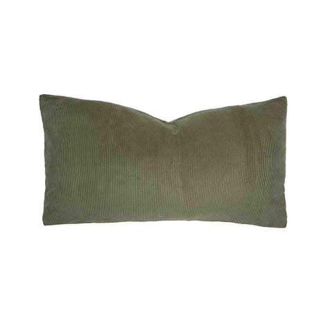Sloane Rectangle Cushion (Olive) - 30 x 60cm